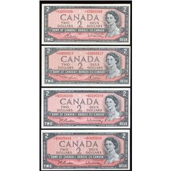 Bank of Canada $2, 1954 Replacement - Lot of 7