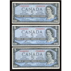Bank of Canada $5, 1954 Replacement - Lot of 5
