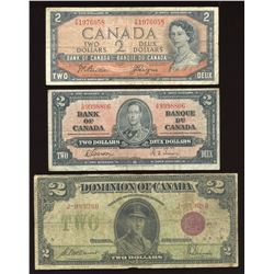 Bank of Canada $2 Banknotes - Lot of 7