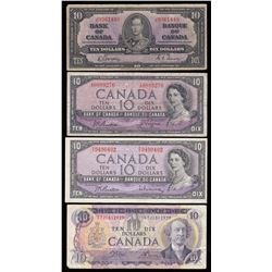Bank of Canada $10 Banknotes - Lot of 11