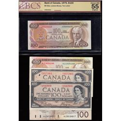 Bank of Canada $100 Banknotes - Lot of 5