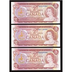 Bank of Canada $2, 1974 Lot of 6 Replacements