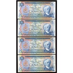 Bank of Canada $5, 1972 - Lot of 7 Replacements