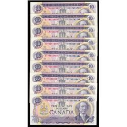 Bank of Canada $10, 1971 - Lot of 17