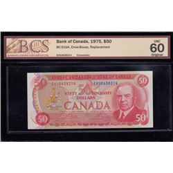 Bank of Canada $50, 1975 Replacement