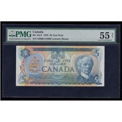 Bank of Canada $5, 1979 Test