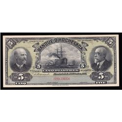 Banque D'Hochelaga $5, 1911