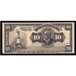 Banque D'Hochelaga $10, 1911