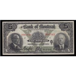 Bank of Montreal $5, 1923