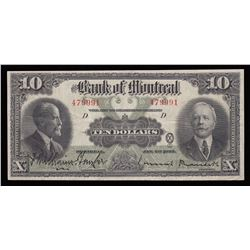 Bank of Montreal $10, 1923