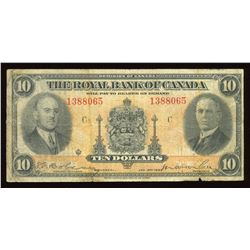 The Royal Bank of Canada $10, 1935