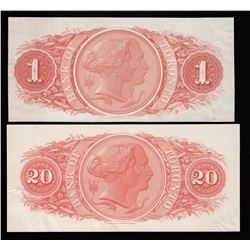 Lot of 4 Bank of Toronto Back Proofs