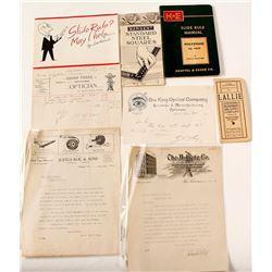 Scientific Instrument Advertising & Ephemera