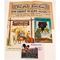 Early Knott's Berry Farm (Disneyland) Ephemera
