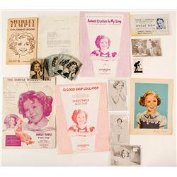 Shirley Temple Ephemera (Playing Cards, Autograph, Photos)