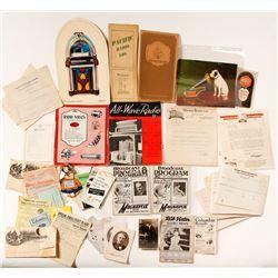 Phonograph & Radio Ephemera Collection