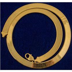 14k Gold 14mm Herringbone Chain