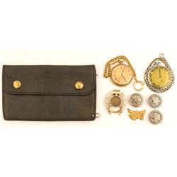 Watches, Buttons and Money Clip Group