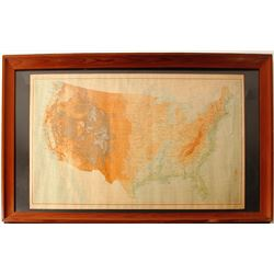Framed USGS Elevation Map