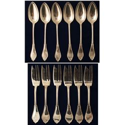 M. M. Fredrick Silver Flatware Collection