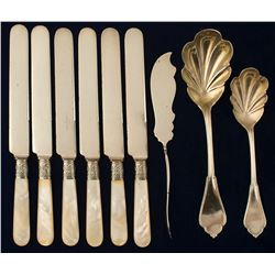 Silver Flatware Collection, Possibly Virginia City
