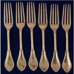 Rare M.M. Fredrick Silver Flatware, c1872