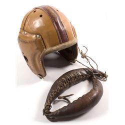 Vintage Football Helmet and Neck Guard