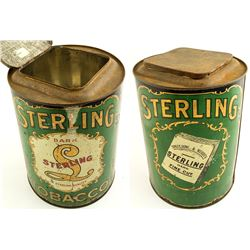 Sterling Tobacco Can
