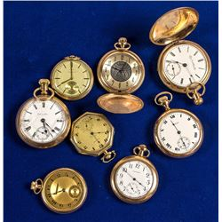 8 Gold Pocket Watches