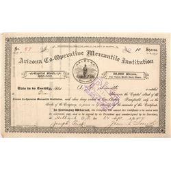 Arizona Territorial Co-Op Stock Certificate