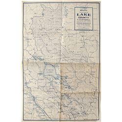 Lake County, CA Map