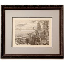 Lake Tahoe Engraving, Thomas Moran