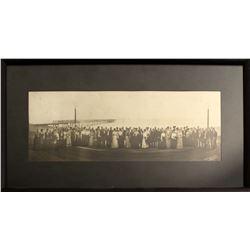 Framed Ramsey & Stevenson Photograph of Boardwalk & Pier with Distinguished Visitors