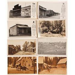 Mariposa and Calveras Calif. Postcards (8)