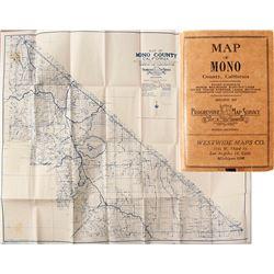 Mono County, CA Map, 1930