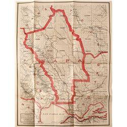 Napa County, California Map, 1914
