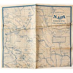 Napa County, CA Map 1915