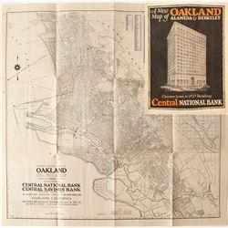 Oakland, Alameda and Berkeley, CA Street Map, 1926