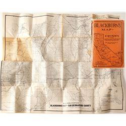 Blackburn's San Bernardino County, CA Map, 1932