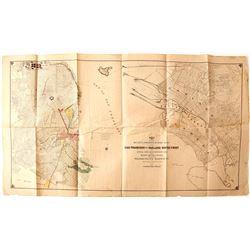 San Francisco and Oakland Waterfront Map, 1914