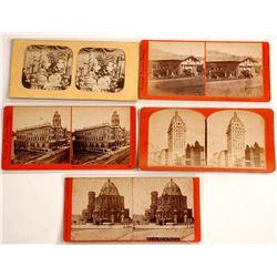 Five Early San Francisco Stereoviews