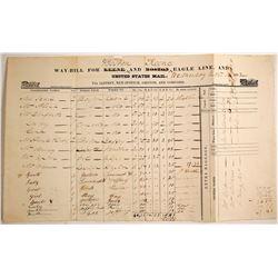 1832 Boston Stagecoach Mail Way-Bill
