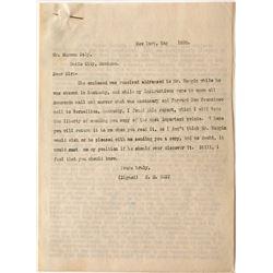 """Butte City Letter concerning """"40 Bruckner Furnaces"""" (typed 6 pages)"""
