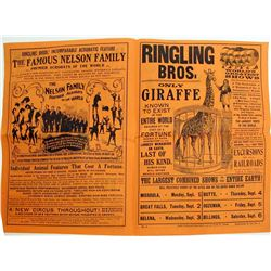 Ringling Bros. Montana Promo Flyer