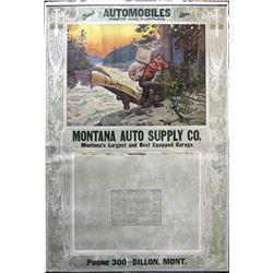1924 Buick Auto Parts Calendar, Dillon, Montana