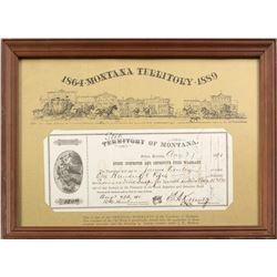 Detective Fund Warrant, Helena, Montana Territory, 1890