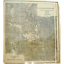 F.V Hayden Yellowstone Map 1871
