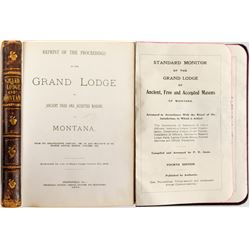 Two Grand Lodge of Montana Booklets, 1866 and 1904