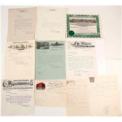 Montana Pictorial Letterheads & One Mining Stock