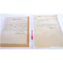 Two Rare Candelaria, Nevada Letterheads